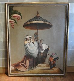 "Very large painting acquired from Avanti.  It is entitled ""Observance"" and is from John Richard, a company of fine home furnishings, art and accessories."