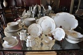 Very large service of June Bride by Warwick China