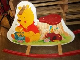 vintage Winnie the pooh child rocker