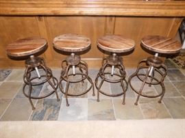 Industrial style bar stools 26 inch in height