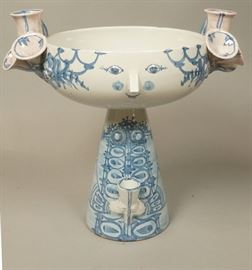 Lot 16 BJORN WIINBLAD Denmark Large Pottery Compote. Fig