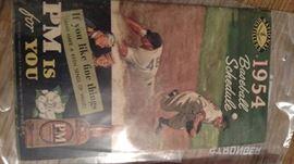 1954 Baseball Schedule
