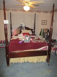 Thomasville four-poster bed.  One of two four-poster beds.  Similar, but not identical.