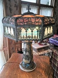 Gorgeous slag glass lamp
