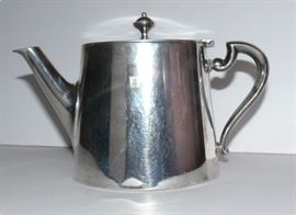 rare Slovak Republic (1939-1945) silver tea pot, previously used for official government functions (engraved with crest)