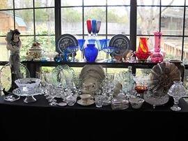 COBALT BLUE GLASS NORITAKE CHINA AND CRYSTAL