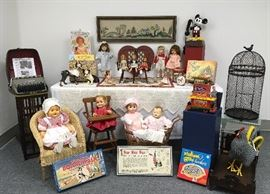 We have a larger-than-usual selection of vintage toys, vintage board games and childhood collectibles.
