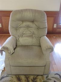 TWO MATCHING LAZY BOY RECLINERS IN GREAT SHAPE....nice, small size