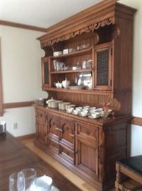 China cabinet with buffet shelf: gorgeous!