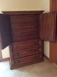 Tall dresser with hidden top drawers