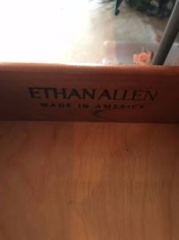 #8	Ethan Allen End Table w/Drawer  21.5x27x26	 $175.00  #9	Coffee Table  51.5x20x14  (Laminate Top)	 $40.00