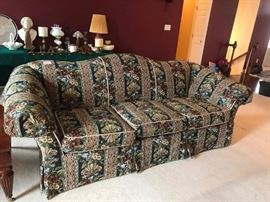 "#7	  CR Laine Sofa Blue/Burgandy 96""	 $75.00"