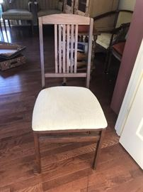 #15 4 wood folding chairs (set) $100.00