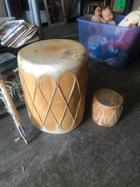 Indian drums -- small and large