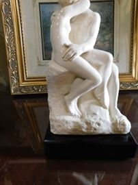 "French artist Auguste Rodin sculpture ""The Kiss"""