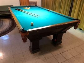 Antique Pool Table from Pool Hall in Montevideo MN