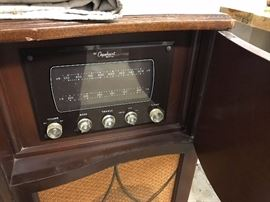 Capehart Tube AM / FM Radio inside of Stereo Cabinet