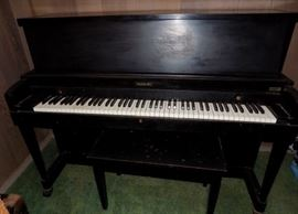 EBC001 Upright Black Baldwin Hamilton Piano & Bench