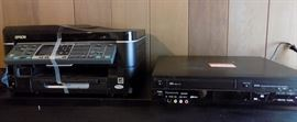 EBC008 Epson Printer and Panasonic  VHS/DVD player