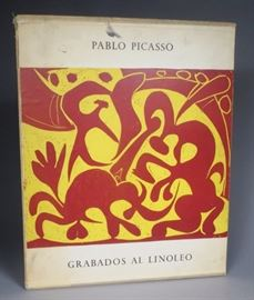 "Original Pablo Picasso ""GRABADOS AL LINOLEO"" book filled with linocuts.......RARE"