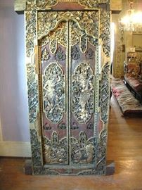 Late 1700's - early 1800's Hand Carved and Gold Gilded Asian Door & Pediment....a must see item.