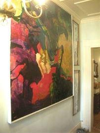 Large Original Oil On Canvas, M. Gerbens.