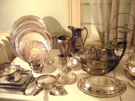 Just a small sampling of the Sterling Silver and Silver Plate Items Available.