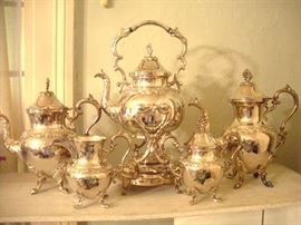 Silver Plate Tea Set...Grape Cluster Finials.