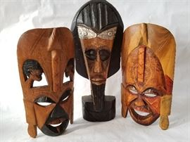 Trio of African Masks  http://www.ctonlineauctions.com/detail.asp?id=662255