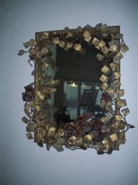 3D Metal wall mirror