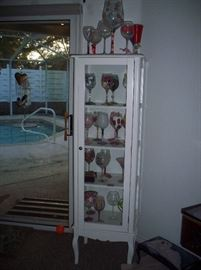 Tower style Curio cabinet
