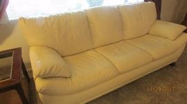 Baby soft leather sofa