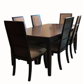 Contemporary Decorator Espresso Brown Dining Table