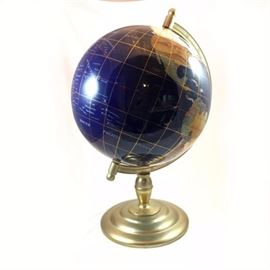Gem Stones International Blue Lapis World Globe 21""