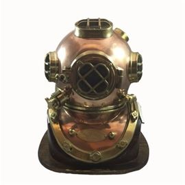 Mark V Brass Replica United States Navy Diving Helmet