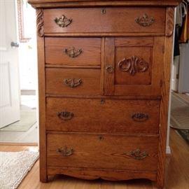 Antique Dresser with Hat Drawer