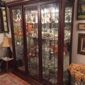 Beautiful Large Curio Lighted Cabinet