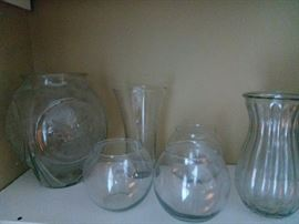 Various aged vases