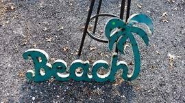Tin Beach Sign