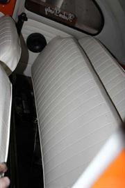 Inside back of VW Bug