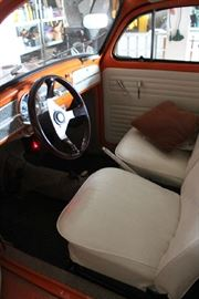 Inside front of VW Bug