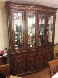 Like New inlaid wood China Cabinet