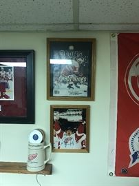 RED WING AUTOGRAPHED PHOTOS