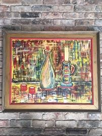 Very colorful oil painting