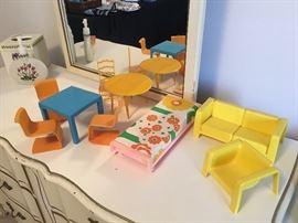 Plastic barbie furniture