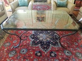 Henredon Center Glass Table from the Mart in Chicago  58Wx42Dx24.5H