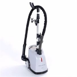 Rowenta Steam Control Machine: A Rowenta Steam Control machine. This free standing steam control machine from Rowenta features 1500 watts of power with multiple levels of steam control on the wand with clear water tank, wheeled base.