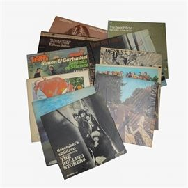 The Beatles, The Beach Boys, Carole King and Other Classic Rock LPs: A large collection of eighty classic rock LPs. This collection includes The Rolling Stones, The Beatles, The Beach Boys, Carole King, and more.