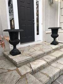 Pair of Iron Outdoor Planters $150