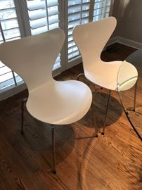 Six Fritz Hansen/Arne Jacobson Chairs for Knoll. All Have surface scratches in the same place on the back of the chairs (see photos) $600 for all